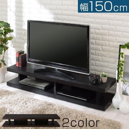 TV台 ワイド 低め 木製 ダークブラウン/ブラック TVB018030
