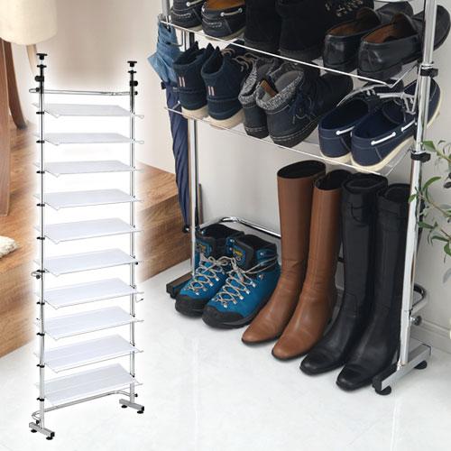 シューズスタンド 靴棚 スチール 省スペース SBXUW0010