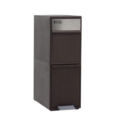 ごみ箱 ペダルペール キッチン用品 キッチン収納 ゴミ箱 ふた付き フタ付き ゴミ入れ くず入れ くずかご ダストbox 送料無料 ホワイト 白 ブラウン おしゃれ