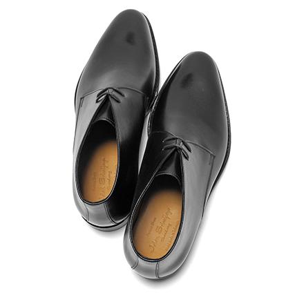 JALAN SRIWIJAYA (ジャランスリウァヤ) chukka boots (calf-leather /11120/ die knight sole) Black