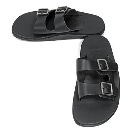 [20%OFF] Island Slipper(アイランドスリッパ) レザーサンダル (K1 404) Black