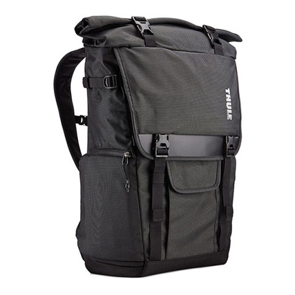 Thule(スーリー) 一眼レフ/15インチMacBookPro/iPad バックパック (Covert DSLR Rolltop Backpack) Dark Shadow