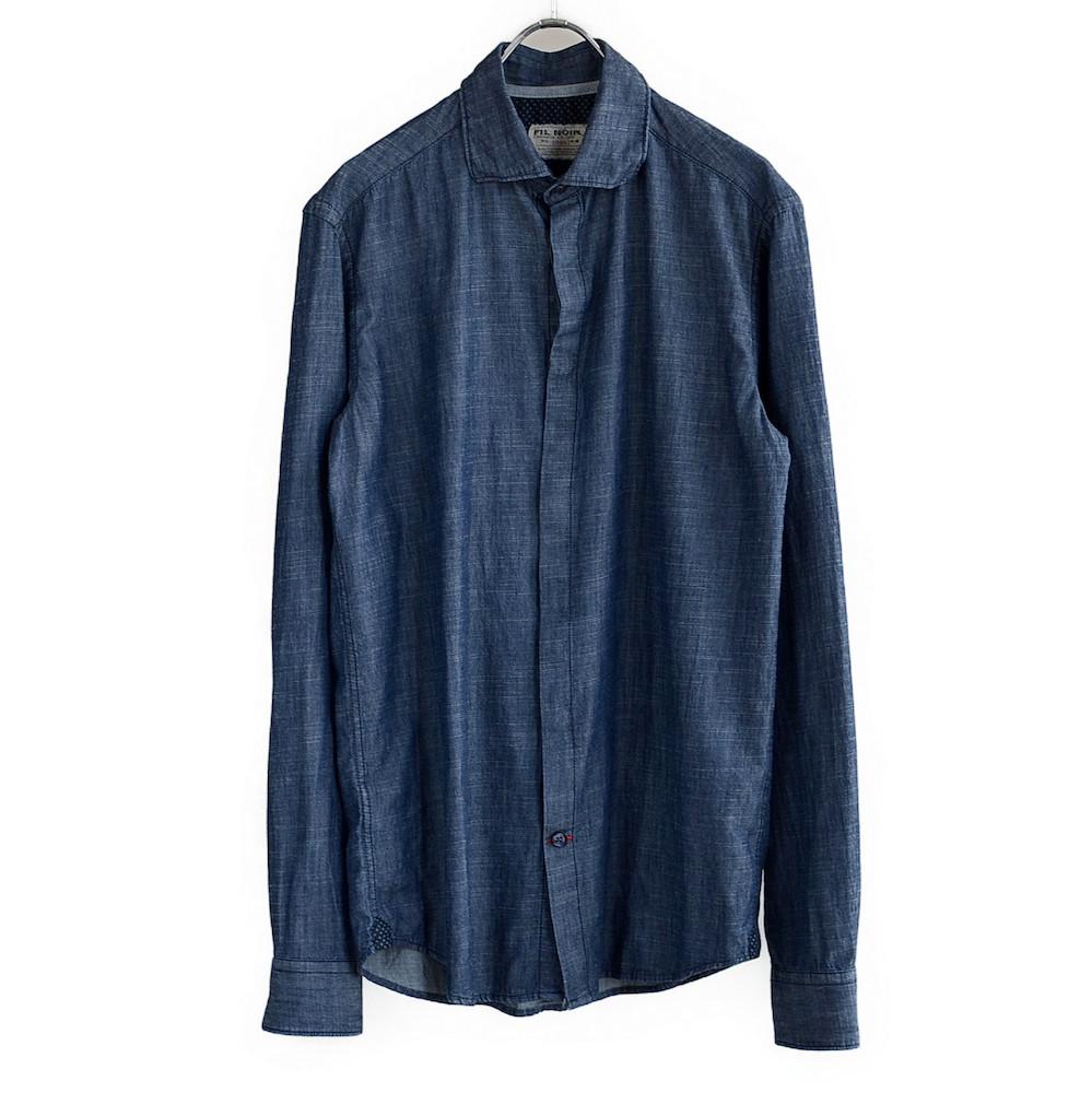 FIL NOIR(フィルノワール) インディゴシャツ