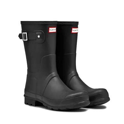 HUNTER(ハンター) メンズ オリジナル ショート ブーツ (MENS ORIGINAL SHORTD/MFS9000RMA) Black