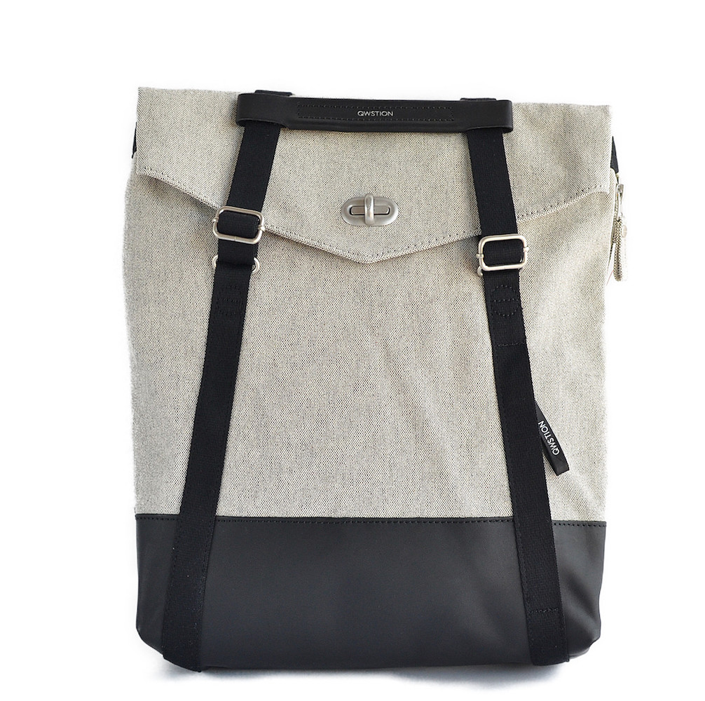 QWSTION(クエスション) 2way TOTE RAW BLEND LEATHER CANVAS