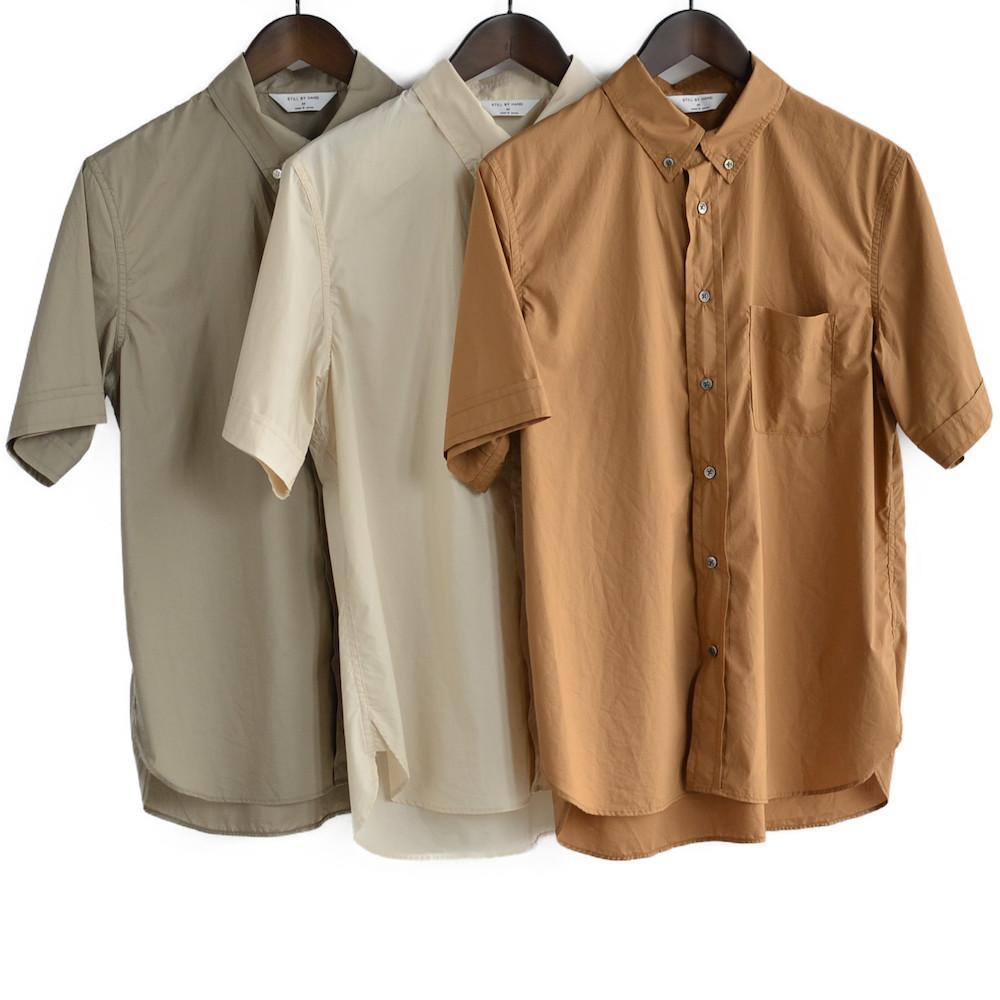 STILL BY HAND(スティル・バイ・ハンド) 半袖ボタンダウンシャツ