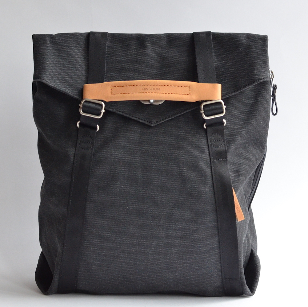 QWSTION(クエスション) 2way TOTE (Washed Black)