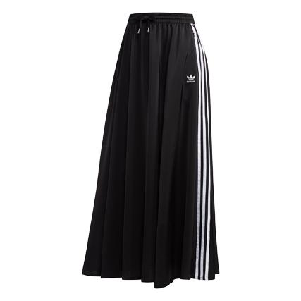 adidas(アディダス) ロング サテン スカート (FL0039 ブラック)