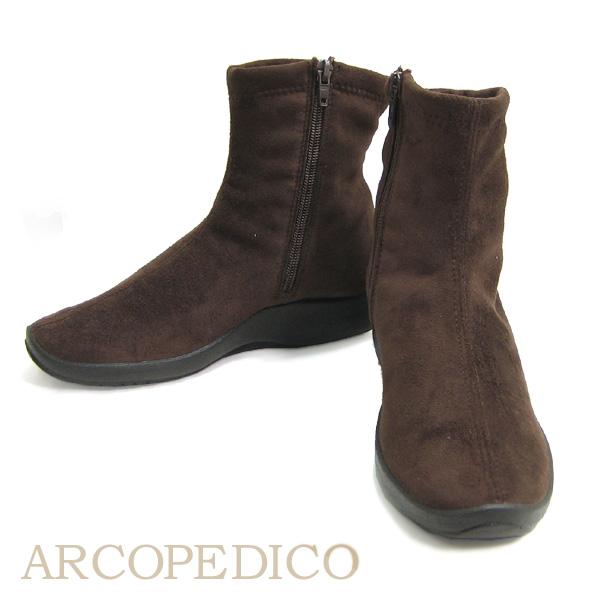 エリオさんの靴 アルコペディコ ARCOPEDICO 靴  L ライン L8 ショート ブーツ ブラウン 茶色 ポルトガル製 ブーツ 【送料無料】