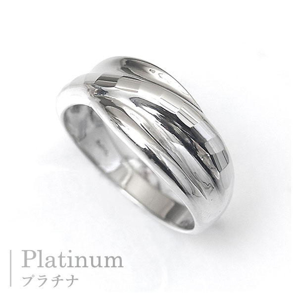 In The Ring Platinum Rings Cut Machining Glitter Multiple Fittings Wave  Design Ring Couple Pairing Featured