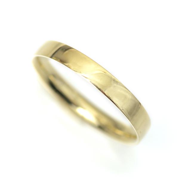 18金 リング 指輪 k18リング 18金ゴールド シンプル リング ベーシック デザインリング 約2.7mm幅 カップル ペアリングにもおすすめ K18YG 記念日 薬指用 【楽ギフ_メッセ入力】
