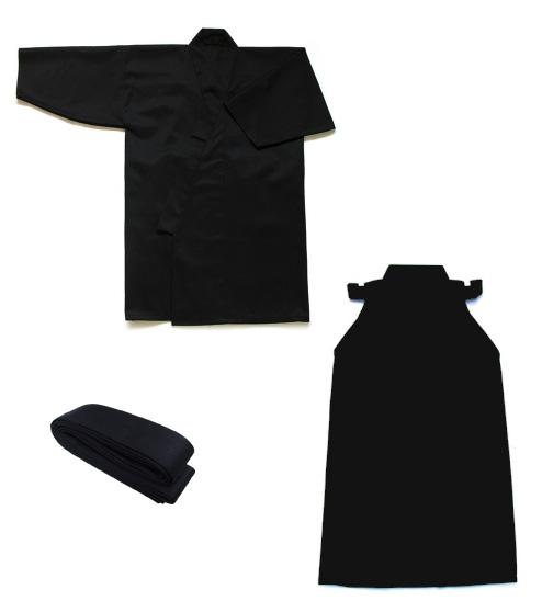 最高級ポリエステル居合道衣・袴・帯3点セット【居合道着 セット】