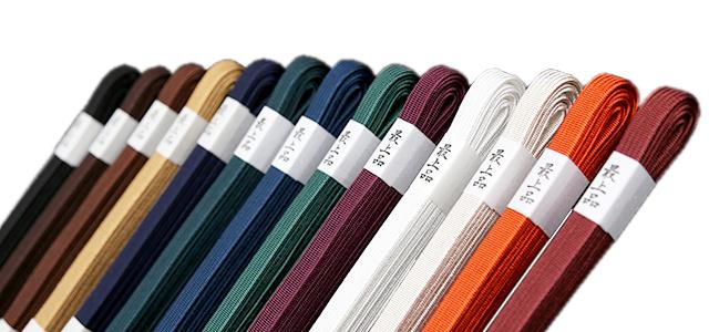 色数が豊富でお好みの色をお選び頂けます! 刀剣用 人絹製 角朝風下緒(長寸用)【居合道具】