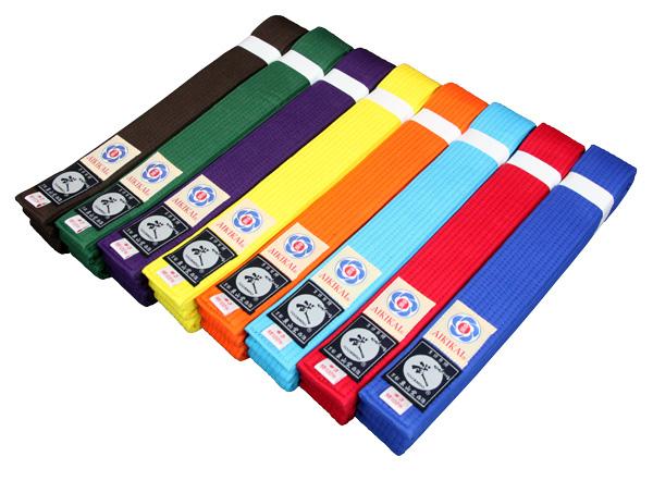 『合気道 帯』8色から選べる色帯 『合気道 帯』合気道色帯※サイズで金額が変ります※【合気道 帯 合気道着 合気道衣】