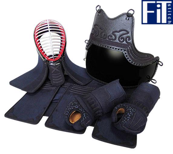 4ミリフィットステッチ織刺剣道防具セット『鎧』