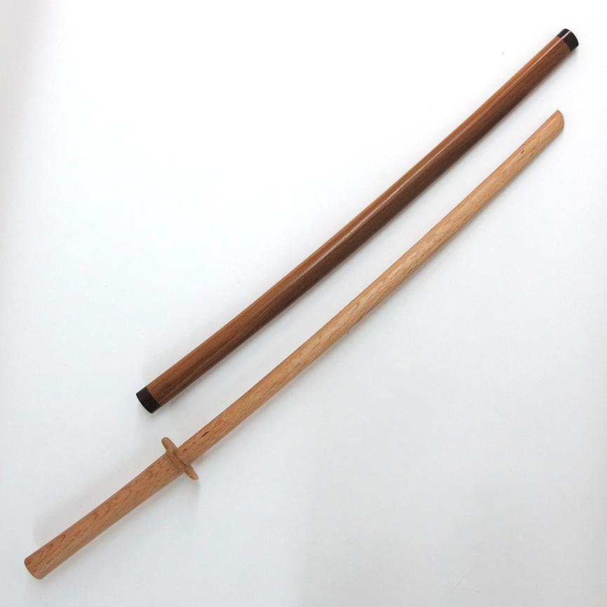 新 本赤樫 居合用木製鞘付 木刀(2.35尺~2.55尺)