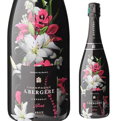 A.ベルジェールキュヴェ フルール ロゼ 750ml[ア ベルジェール][アンドレ ベルジェール][シャンパン][シャンパーニュ][花柄 ボトル][プレゼント][記念日]