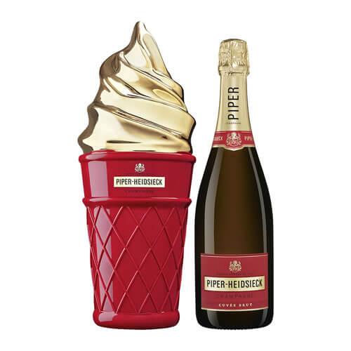 パイパー エドシック ブリュットNV アイスクリーム クールボックス 750mlシャンパン シャンパーニュ 限定品【お一人様2本まで】