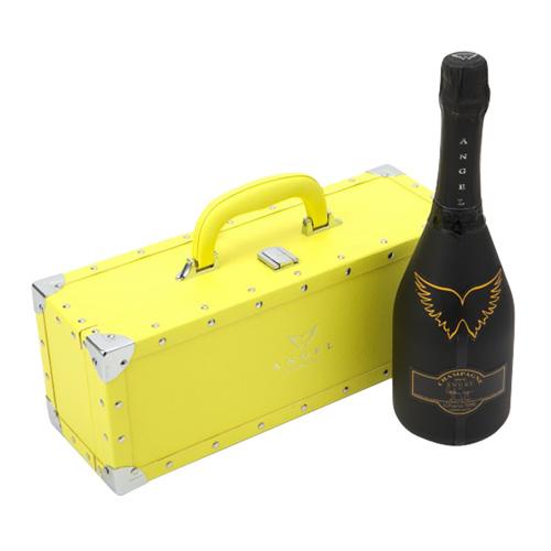 送料無料エンジェル シャンパンヘイローイエロー (黄) NV 750ml YELLOW BOX 専用箱入りシャンパン シャンパーニュ 光るボトル ルミナス ナイト系