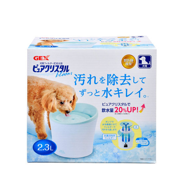 完全送料無料 激安セール GEX ピュアクリスタル ブルーム 2.3L 犬用 多頭飼育用 関東当日便