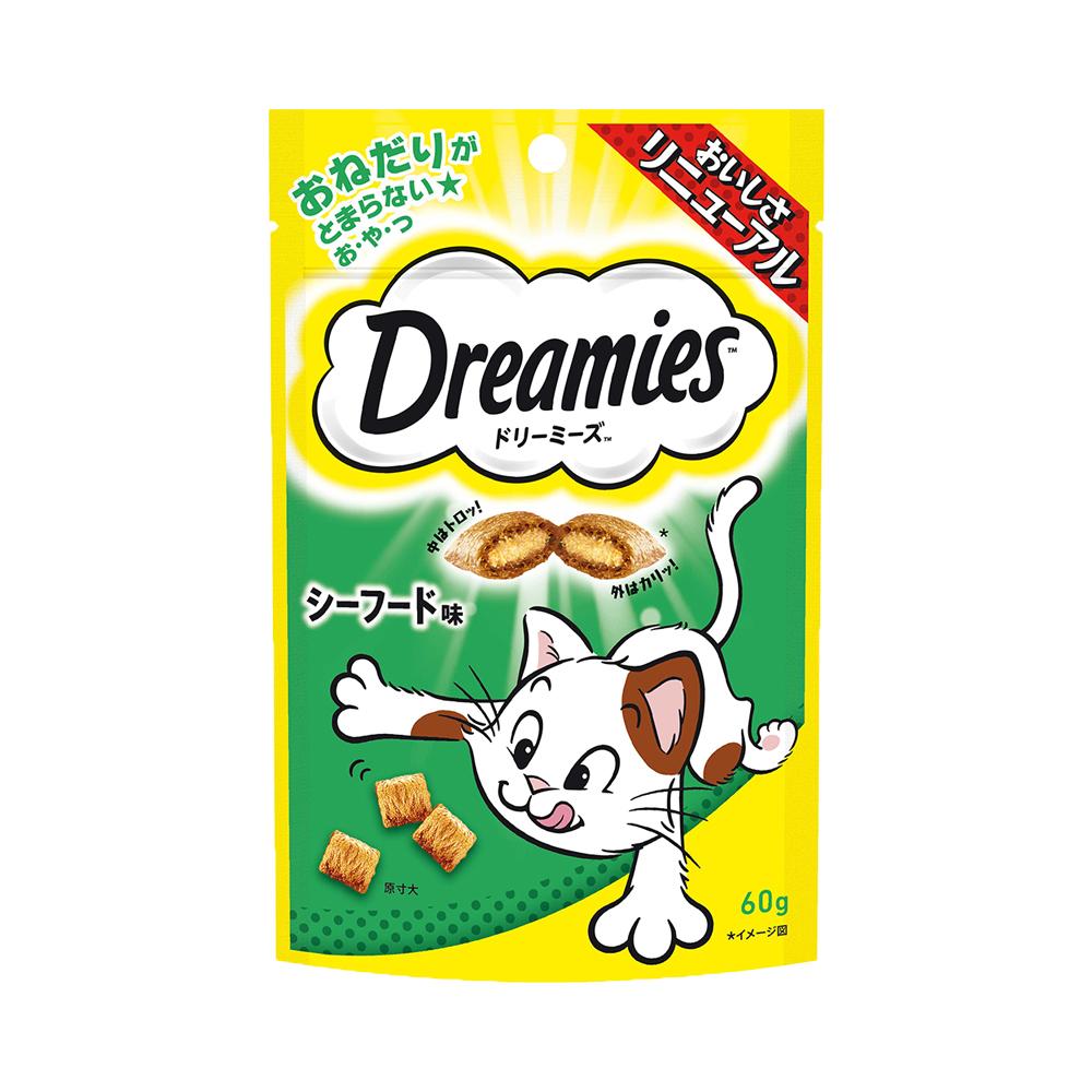 消費期限 2022 09 22 ドリーミーズ シーフード味 セール 登場から人気沸騰 60g 卓出 関東当日便 キャットフード