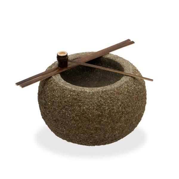 和風石材 蹲(つくばい) 大 水槽用オブジェ アクアリウム用品 沖縄別途送料