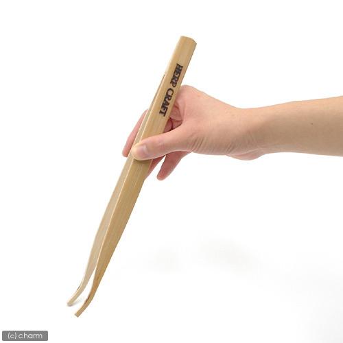 スドー ハープクラフト 竹製ピンセット(バンブーピンセット) 爬虫類 両生類 ピンセット エサやり メンテナンス用 関東当日便