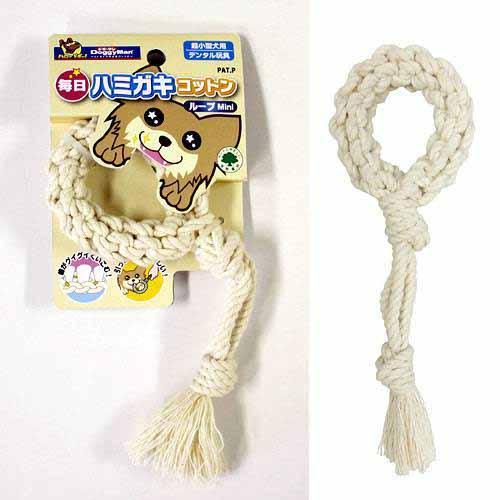 ドギーマン 毎日ハミガキコットン ループ Mini 犬用おもちゃ 関東当日便 デンタルケア 犬 公式通販 新作続