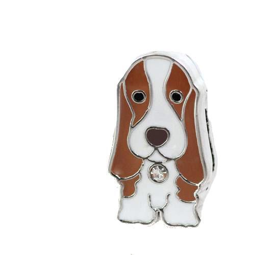 チャームコレクション スライドチャーム 愛犬シリーズ バセットハウンド 17 品番:BKE−090 17 関東当日便
