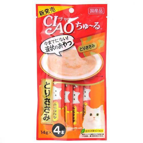 消費期限 2023 06 30 いなば CIAO チャオ ちゅ~る 百貨店 14g×4本 チュール 関東当日便 期間限定で特別価格 おやつ とりささみ 猫 ちゅーる