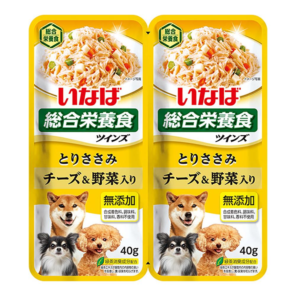 消費期限 2022 12 31 いなば 全店販売中 ツインズ チーズ 関東当日便 野菜入り 80g 40g×2 とりささみ 特別セール品