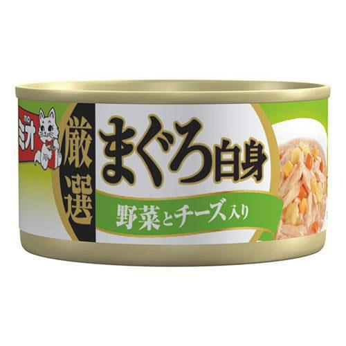 ミオ 厳選まぐろ白身 野菜とチーズ入り だし仕立て 80g 48缶 関東当日便