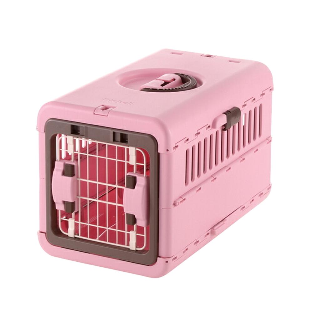 リッチェル 実物 キャンピングキャリー 新作 折りたたみ S 関東当日便 ライトピンク