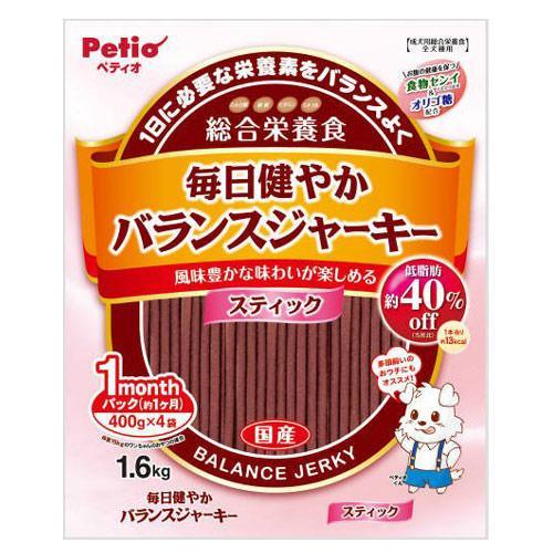 消費期限 2022 04 30 ペティオ 毎日健やかバランスジャーキー スティック 1.6kg 誕生日 お祝い 関東当日便 国産 犬 総合栄養食 新色追加 400g×4袋