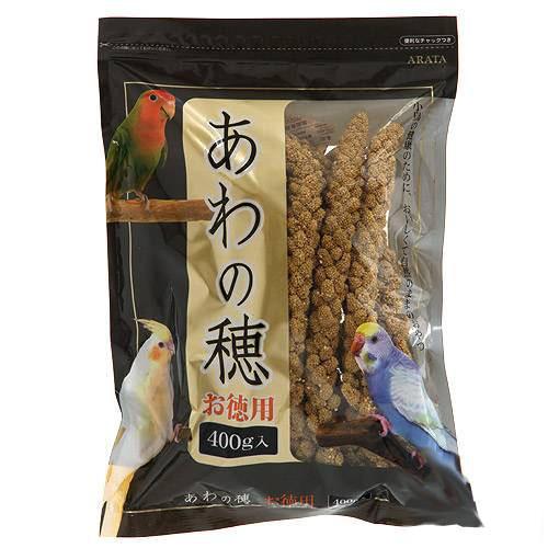消費期限 2023/08/02  アラタ 粟の穂 小鳥 お徳用 400g 鳥 フード 餌 えさ 粟(あわ) 関東当日便