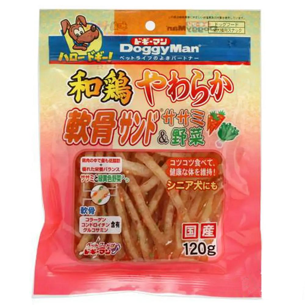 消費期限 2022 07 31 ドギーマン 和鶏やわらか軟骨サンド 野菜 関東当日便 おやつ 超人気 専門店 ドッグフード ササミ 120g 贈呈