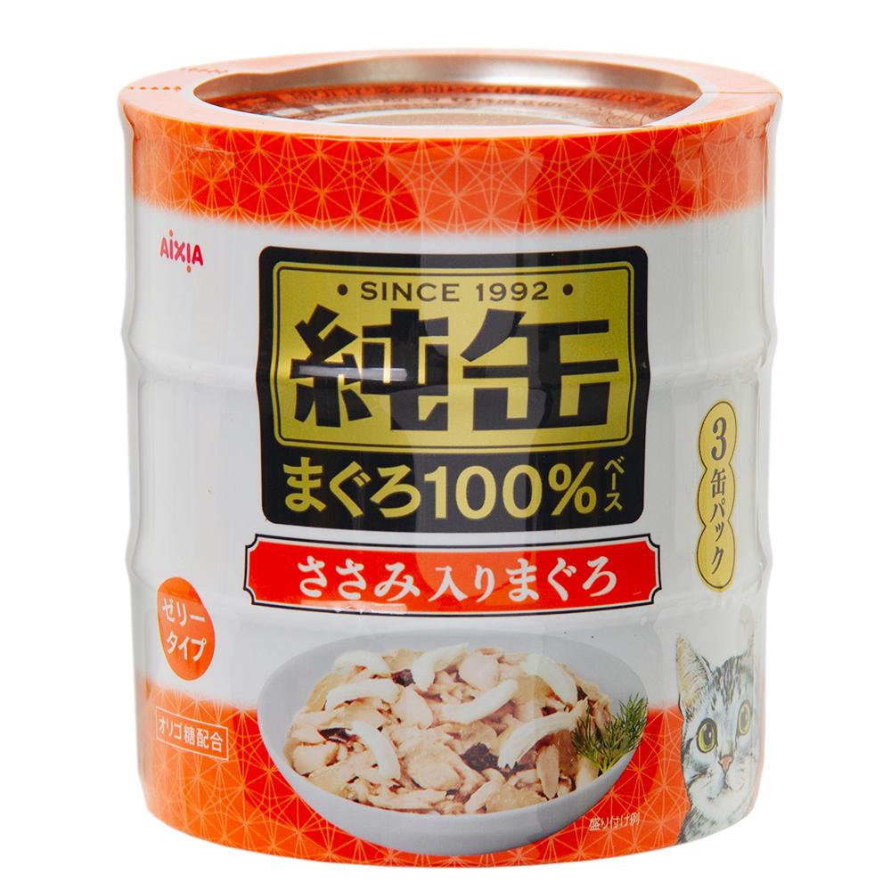 消費期限 オリジナル 2024 5%OFF 02 01 アイシア 関東当日便 純缶 ささみ入りまぐろ 125g×3P
