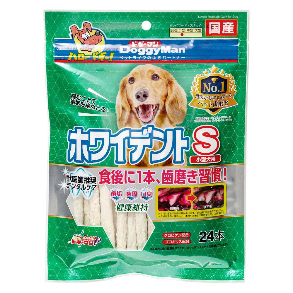 消費期限 2023/01/31  ドギーマン ホワイデントスティック S 超徳用 24本 犬 おやつ 6袋入り 関東当日便