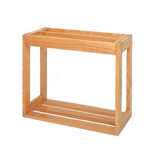 □取寄せ商品 水槽台 ウッドラック refine 600×450-2(クリア) 60cm水槽用(キャビネット) 沖縄別途送料