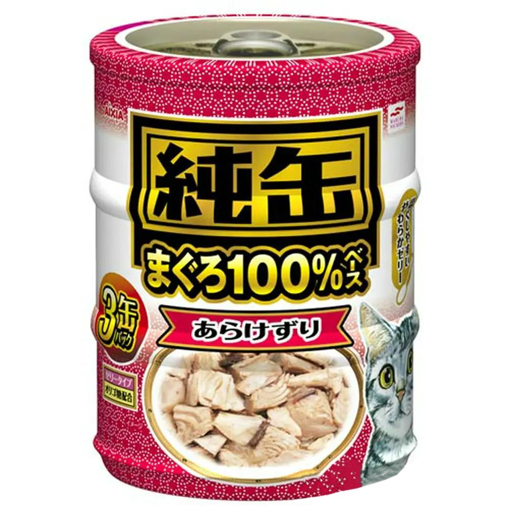 消費期限 2024 05 オンライン限定商品 01 アイシア あらけずり 純缶ミニ3P キャットフード 国内在庫 関東当日便 65g×3缶