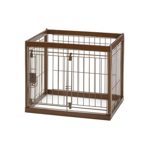 リッチェル 木製ペットサークル 60-50 ダークブラウン サークル 小型犬 沖縄別途送料 関東当日便