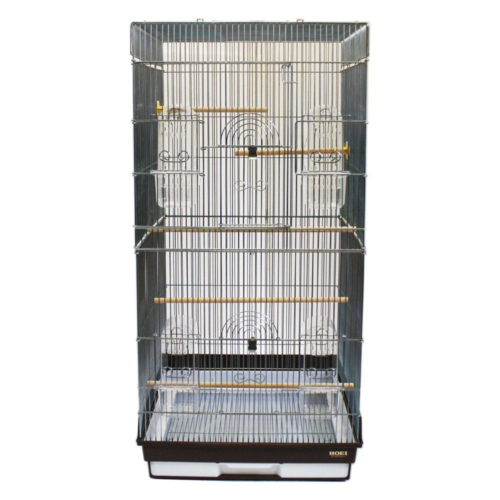 HOEI 鳥かご 465ロング 465-L 銀色メッキ ブラウン 沖縄別途送料 関東当日便