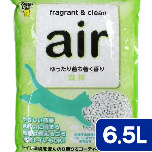 猫砂 お一人様6点限り スーパーキャット air消臭する紙砂 森林 6.5L 猫砂 紙 固まる 流せる 燃やせる 関東当日便