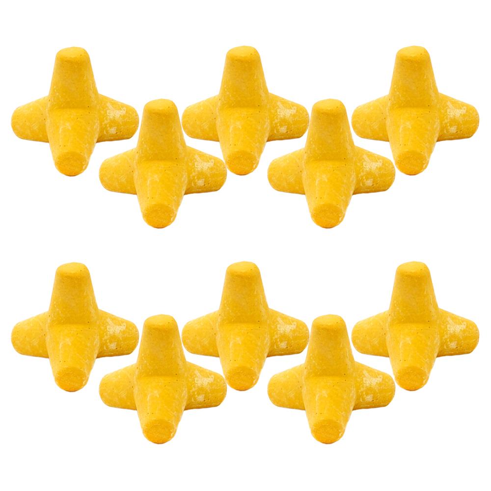 ミニテトラシェルター イエロー 10個 アクアリウム対応 高機能セラミックセメント製 関東当日便