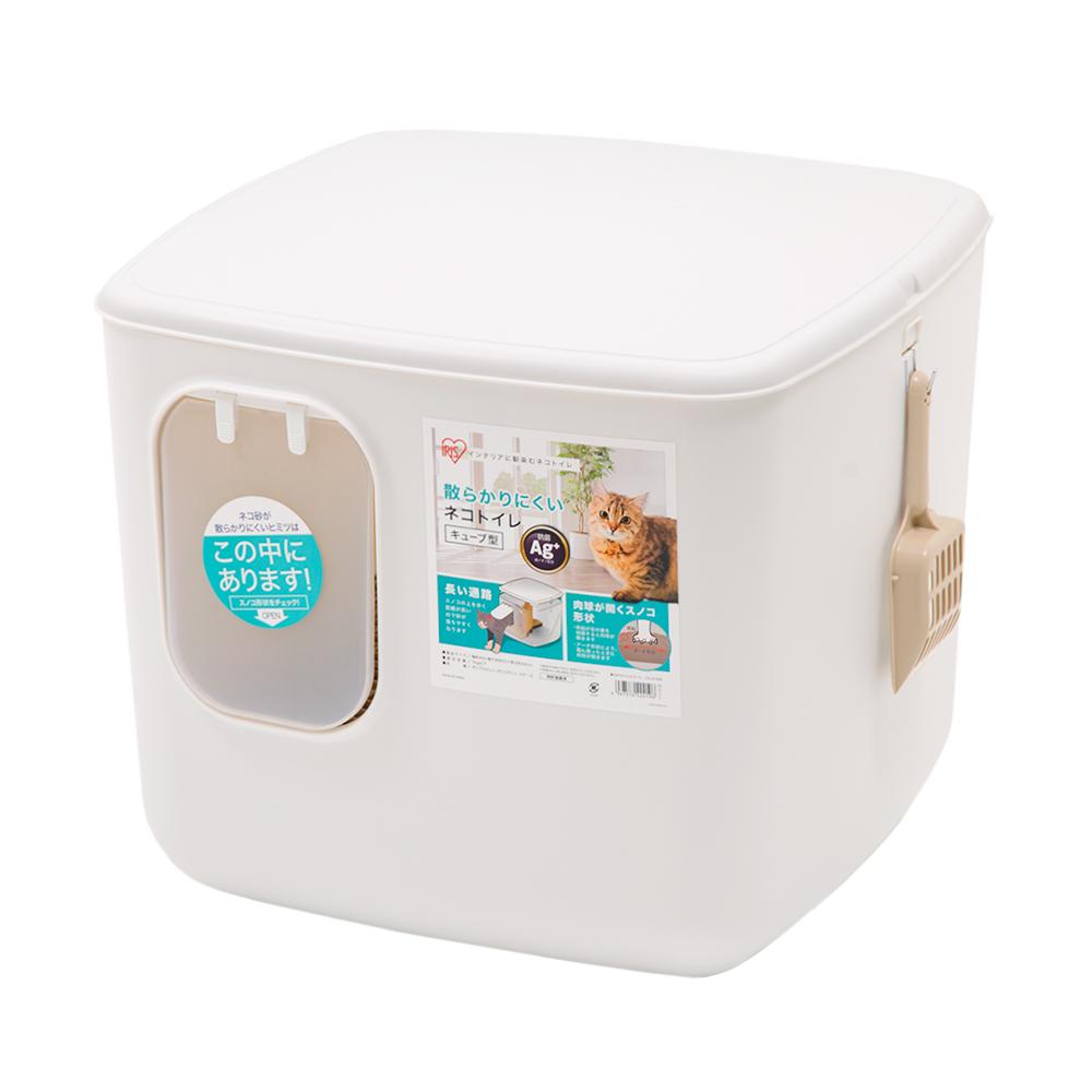 アイリスオーヤマ 散らかりにくいネコトイレ キューブ型 ホワイト 沖縄別途送料 最安値に挑戦 保証 CCLB-500 関東当日便