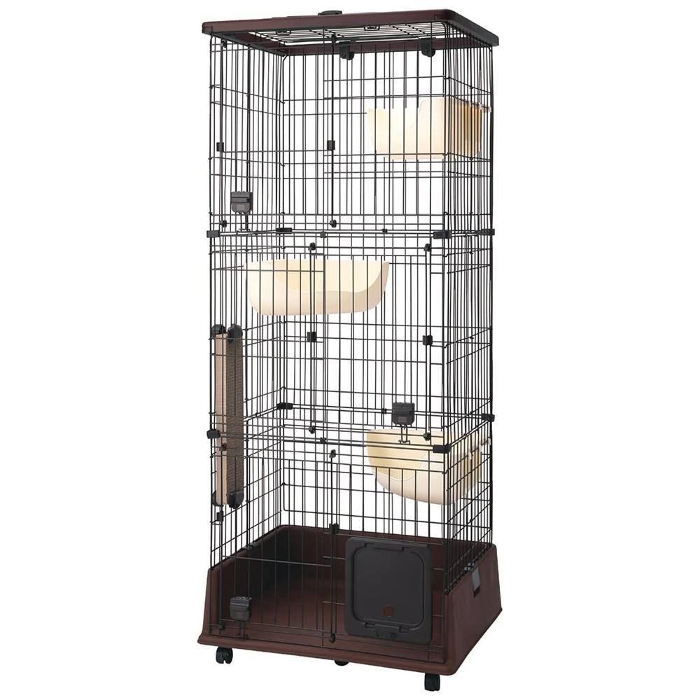 (大型)ペティオ necoco 仔猫からのしつけにもぴったりなキャットルーム 3段タイプ 別途大型手数料・同梱不可・代引不可 petio_chanet