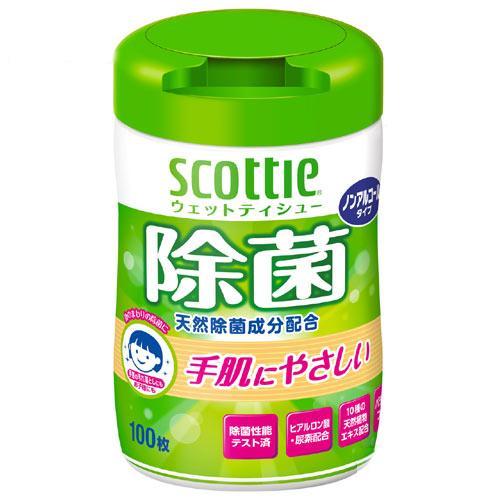 スコッティ ウェットティシュー 除菌 ノンアルコール 100枚 関東当日便 超目玉 本体 売り込み