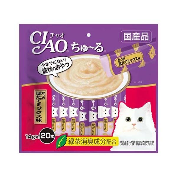 いなば CIAO(チャオ) ちゅ~るかつお ほたてミックス味 14g×20本 関東当日便