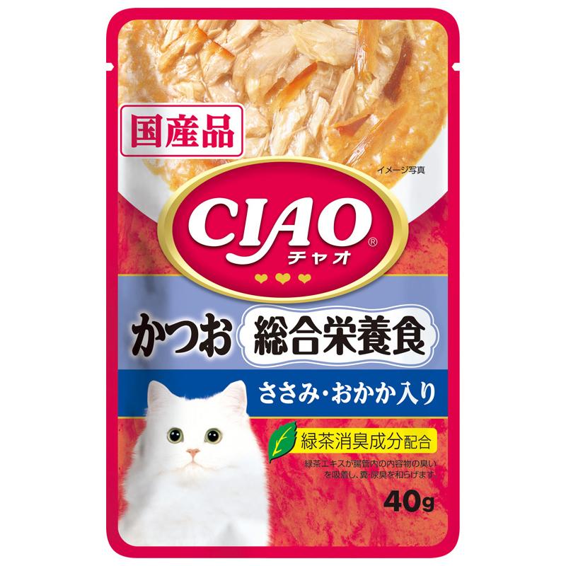 いなば CIAOパウチ 総合栄養食 かつお ささみ・おかか入り 40g 関東当日便
