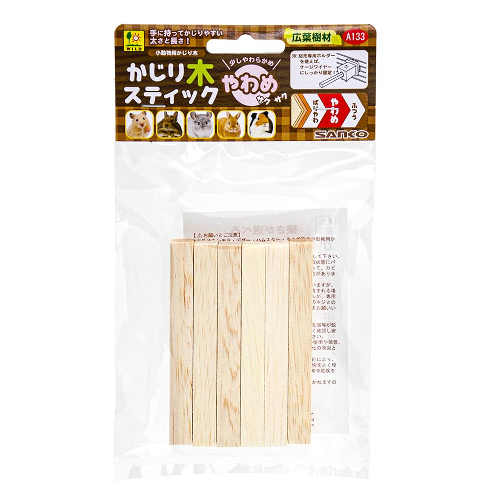 三晃商会 SANKO かじり木スティック やわめ ファルカタ木材 関東当日便